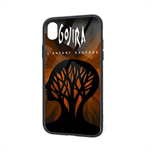 ThomasCGaona iPhone XR Case,Tempered Glass Back Shell Pattern Designed with Soft TPU Bumper Case for Apple iPhone XR Cases-Gojira L'enfant Sauvage