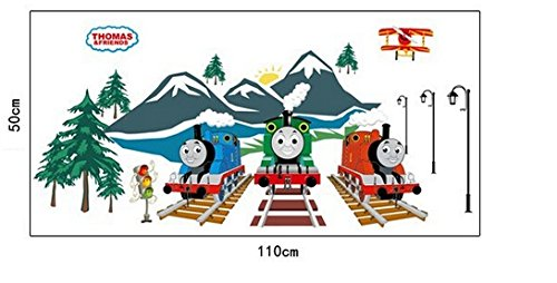 Thomas The Tank Engine Fluorescent Glowing in The Dark Set Bedroom Removable Mural Nursery Decal Decor Baby Art Wall Sticker Stickers Decoration Kids