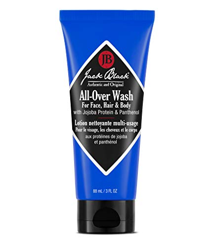 Jack Black All-Over Wash For Face, Hair & Body, 3 Fl Oz