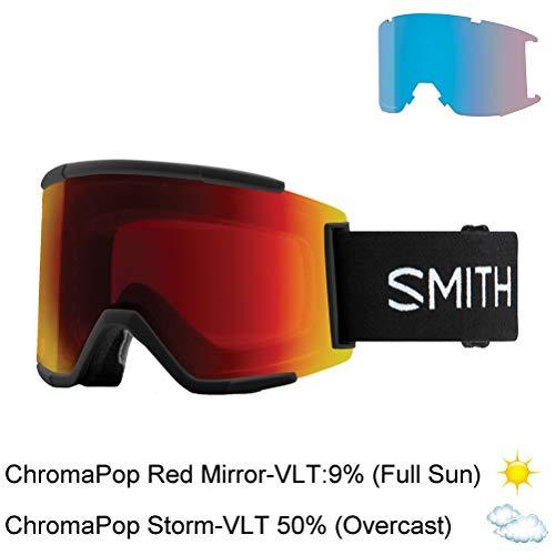 Smith Optics Adult Squad XL Snow Goggles,Black Frame ChromaPop Sun Red Mirror