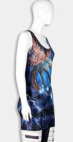Femme Robe Electric Shock Gilet Jupe Élasticité Thenice Sexy 1Rxdqn8qT