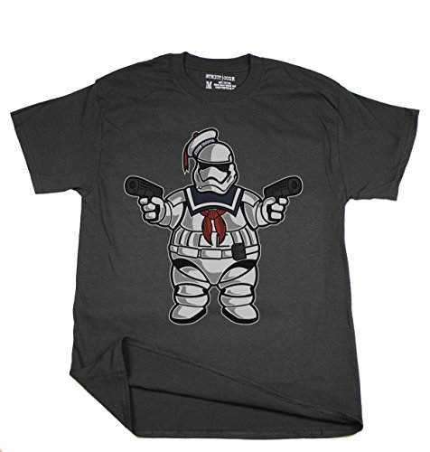 [Inspired by Star Wars Trooper Marshmallow Man, Men Black 100% Cotton Short Sleeve Casual T-shirt S-5XL,] (Cheap Star Wars Shirts)