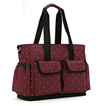 Baby Diaper Bags for Girls Boys Twins, Tote Style (Claret-red)