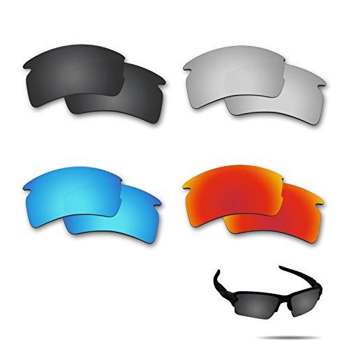 Fiskr Polarized Replacement Lenses for Oakley Flak 2.0 XL Sunglasses 4 Pairs - Oakley Prizm 2.0 Lenses Flak