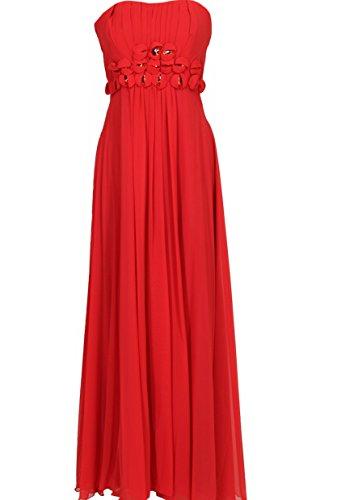 KAJ Moden - Vestido - Corsé - para mujer Rojo