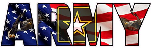 Nostalgia Decals United States Army American Flag Eagle Lettering Magnet Decal 8