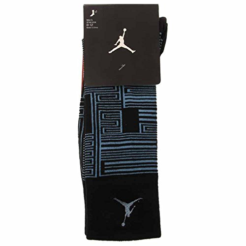 Nike Jordan AJXI Sneaker Socks (Black/Legend Blue/Legend Blue, Medium)