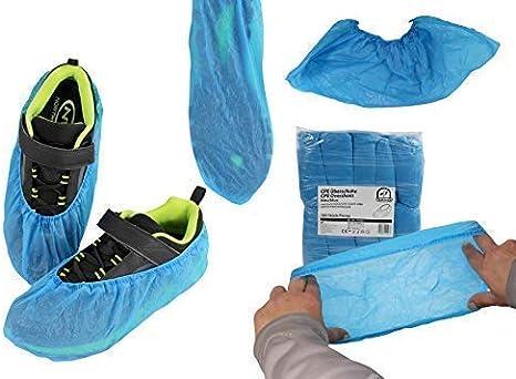 Bleu iSuperb 100 pcs//50 Pairs Surchaussures Jetables Couvre Chaussures Infirmiere Int/érieur pour Protection Surchaussure Shoe Covers Large Size