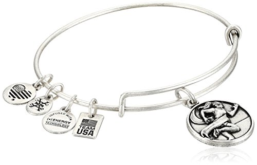 - Alex and Ani Women's Team USA Track and Field Bangle Silver One Size