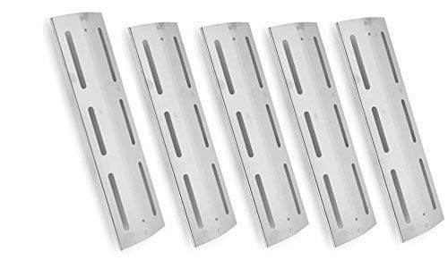 5 Pack Stainless Steel Heat Plate for Brinkmann 810-8300-F, Pro Series 7231, Grill Chef PAT502, Saturn JH665SB & Kenmore 141.163291, 141.162271 Gas Grill Models