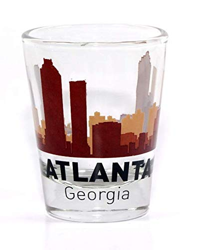 Atlanta Georgia Sunset Skyline Shot Glass