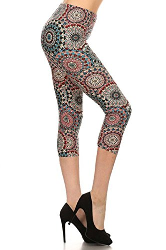 Knicker Capris - R683-CA-OS Calm Mandala Capri Print Leggings