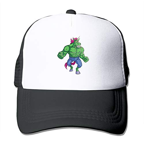Unicorn Rage (2) Classic Trucker Hat Adjustable Baseball Cap for Men and Women Black ()