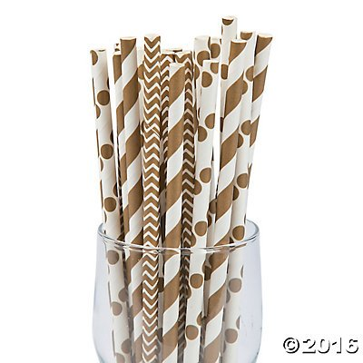 Paper Straws Biodegradable Disposable Decorative