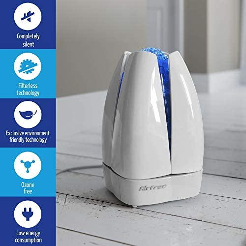 Amazon Com Airfree Lotus Filterless Purifier Small Portable Silent Home Air Cleaner Removes Odor Allergens Molds Dust Smoke Pollen Pet Dander White Home Kitchen