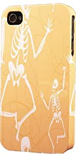 Skeleton Pattern Dimensional Case Fits Apple iPhone 4 or iPhone 4s