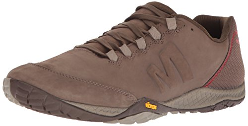 Merrell Men's Parkway Emboss Leather Sneaker, Stone, 9 Medium - Stores Parkway