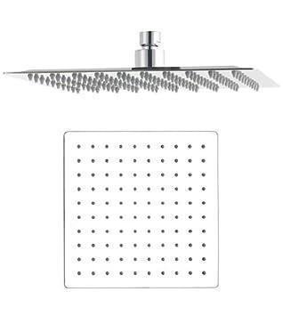 Large 12u0026quot; Square Rain Shower Head Chrome