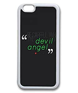 Custom Case with Be Careful Who You Trust Quote DIY Back Snap On Case for iPhone 6 4.7 TPU Black