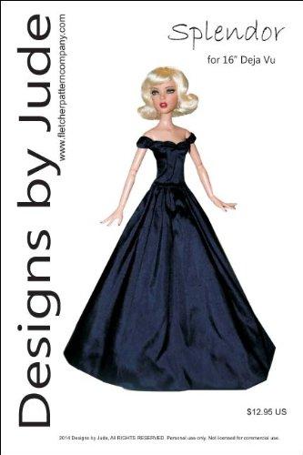 "Splendor Printed Sewing Pattern for 16"" Deja Vu Dolls Tonner Doll"