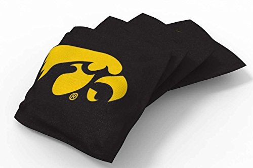 PROLINE 6x6 NCAA College Iowa Hawkeyes Cornhole Bean Bags - Solid Design (A) - Iowa Hawkeyes Ncaa Bean Bag
