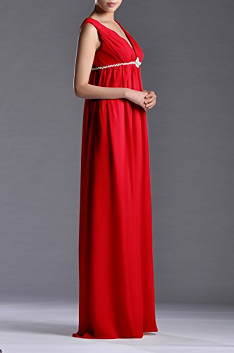 Women's A Adorona Full Dress Line Length Red Chiffon dnxT8Rxp