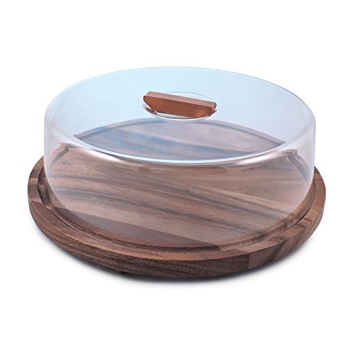 Swissmar Acacia Serving Board with Circular Cover