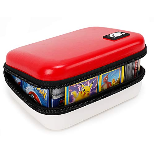 Bigib Lets Go 400 Cards Fitted Carrying Case Compatible with PM Cards Ex Gx Card Holder for Kids Binder Toys
