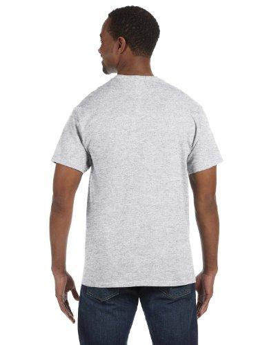 Shirt Blend Ash (Jerzees 5.6 oz., 50/50 Heavyweight Blend T-Shirt, Medium, ASH)