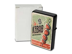 Encendedor De Gasolina Impreso Recargable Kebab