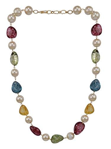 Efulgenz Indian Bollywood Tourmaline Pearl Beaded Strand Bridal Necklace Wedding Jewelry Women by Efulgenz