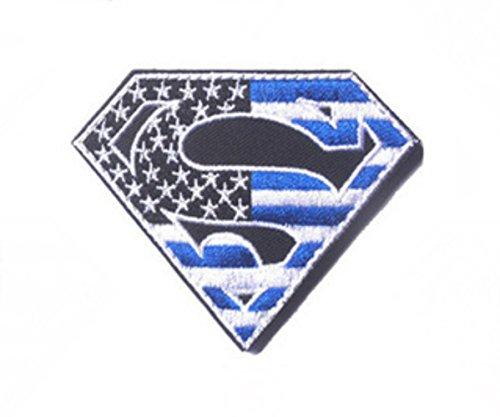 "Blue Heron DC Comics Superman 2.95"" Flag Logo Embroidered Ve"