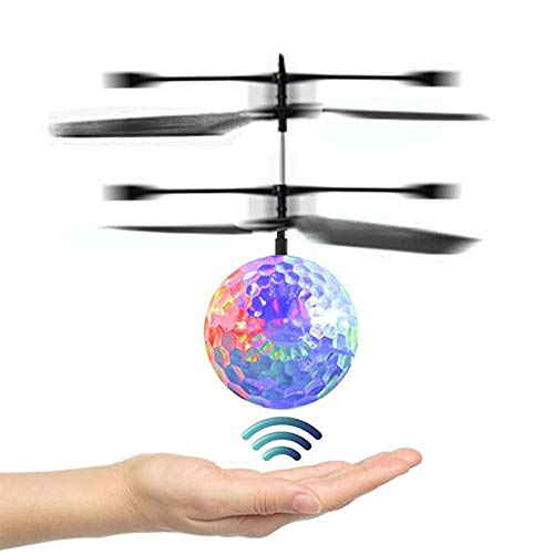 OCDAY Flying Ball, RC Flying Toy, Kid Toys, Infrared Induction Helicopter Drone with Colorful Shinning LED Light and Remote Controller for Kids, Indoor and Outdoor Games