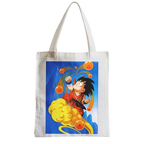 Große Tasche Sack Einkaufsbummel Strand Schüler sangoku klassischen Dragon Ball Manga dbz magische Kugeln
