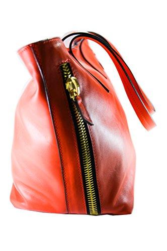 Borsa Donna OBLIO by OAKS- in Vera Pelle, fodera e taschini interni, Zip ornamentali ai lati; pratica e capiente; realizzazione artigianale, 100% Made in Italy