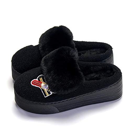 Tacchi Scarpe Donna Alti Alte Alta Ciabatte Qualità Cotone Pantofole In Di Impermeabili Nero Con Da ZwExn8XA