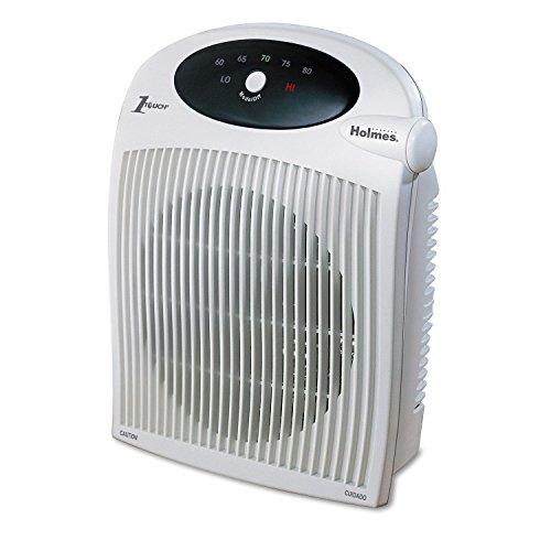 1500W Heater Fan W Alci Heater  Plastic Case  10 1 4 X 6 1 2 X 12 1 2  White