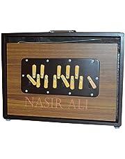 NASIR ALI SHRUTI BOX RED ~BHAJAN~SWAR PETI~TEAK WOOD HANDY C TO C 13 NOTE WITH BAGNASIR ALI SHRUTI BOX~BHAJAN~SWAR PETI~TEAK WOOD HANDY C TO C 13 NOTE WITH BAG
