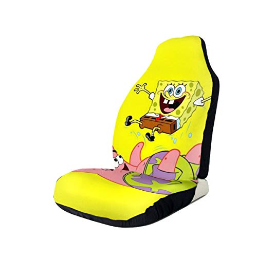 Car Seat Cover Front Seats - Sponge-bob Patrick Star Playing Printed Car Seat Covers 1/2 Pcs, Car Seat Covers Fit Most Car, Truck, SUV or Van