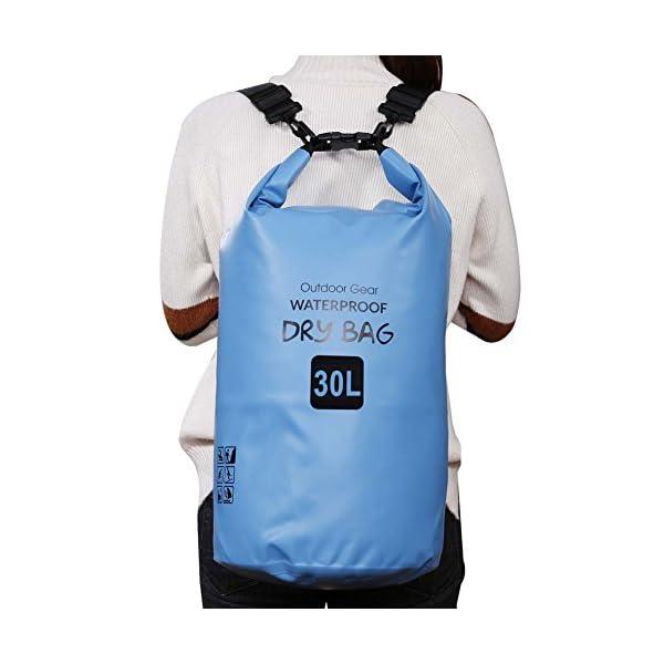 ZhaoCo Borsa Impermeabile, 5L/10L/20L/30L Dry Bag con Tracolla Regolabile Perfetto Per Kajak, Canoa, Vela, Pesca, Nuoto… 4 spesavip