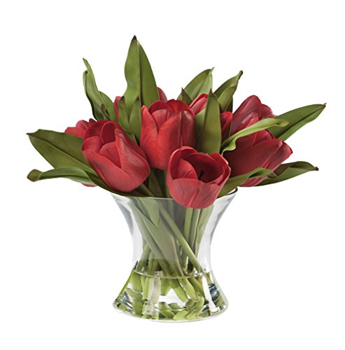 Silk Tulip Nosegay Arrangement (Red)