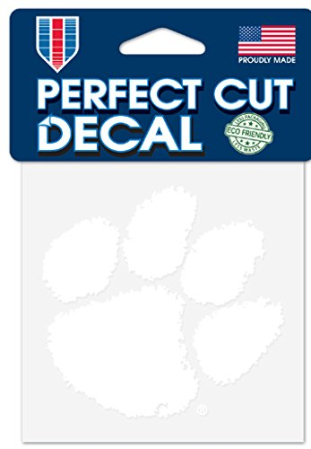 WinCraft NCAA Clemson Tigers 4x4 Perfect Cut White Decal, One Size, Team - Window Clemson
