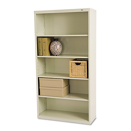 TENNSCO B66PY Metal Bookcase, Five-Shelf, 34-1/2w x 13-1/2d x 66h, Putty ()