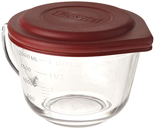 Batter Bowl,2qt W/Pl.Lid,Glass