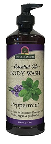 - Nature's Answer Essential Oil Body Wash, Peppermint, 16-Ounce