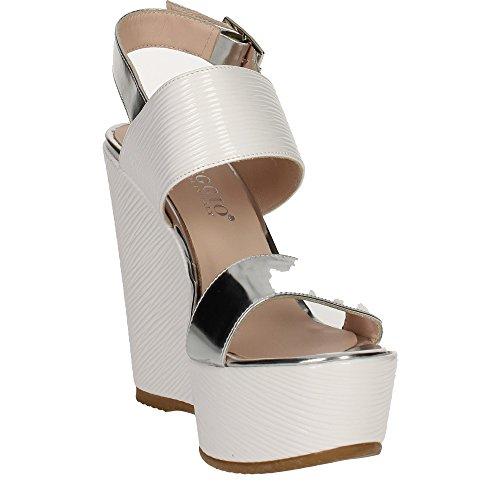 Sandalo Bianco 0474 Donna Micheggio argento PpCFYqC5w
