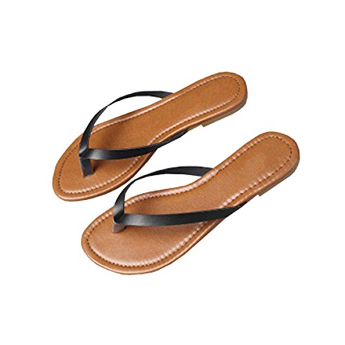 pretty nice 5f35c 9020c Outgobuy Damen Leder Thong Flache Ferse Sommer Sandalen Handarbeit in  Griechenland Luca Flip Flops