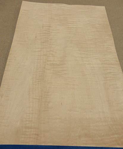 - Curly Maple figured quilted wood veneer 12