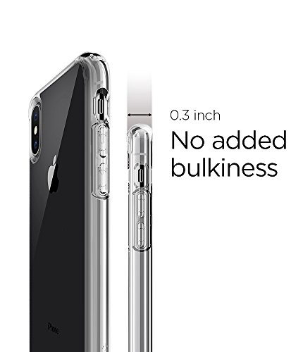 Spigen Ultra Hybrid iPhone X Case with Air Cushion Technology and Hybrid Drop Protection for Apple iPhone X (2017) - Crystal Clear by Spigen (Image #4)