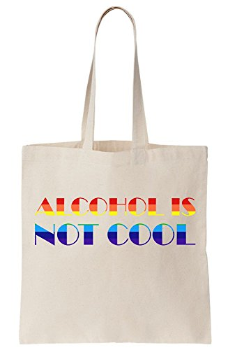 Alcohol Tote Is Cool Graphic Bag Canvas Vintage 80s Not Rpqw0rPR